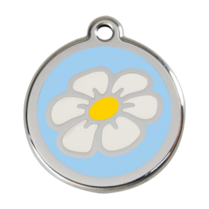 Light Blue Daisy Pet Tag
