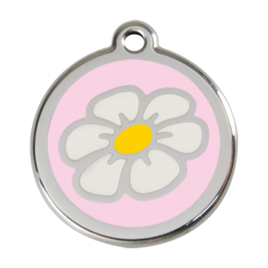 Pink Daisy Pet Tag