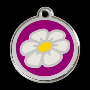 Purple Daisy Pet Tag