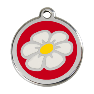 Red Daisy Pet Tag