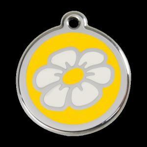 Yellow Daisy Pet Tag