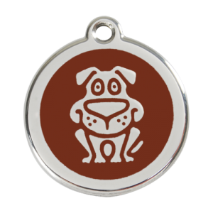 Brown Dog Pet Tag