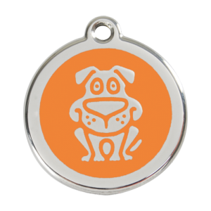 Orange Dog Pet Tag