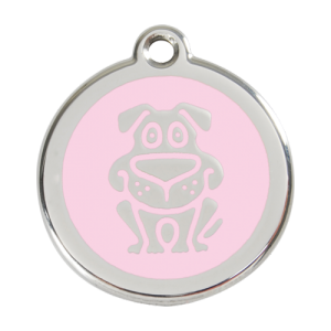 Pink Dog Pet Tag