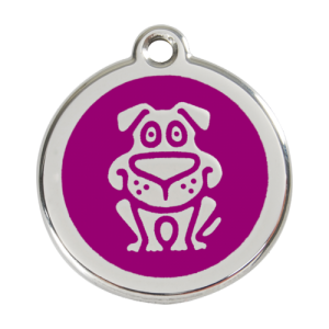 Purple Dog Pet Tag