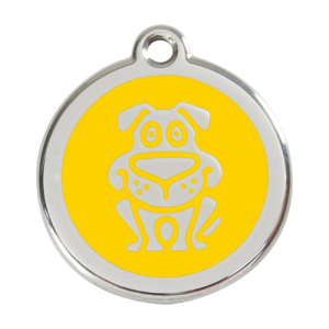 Yellow Dog Pet Tag