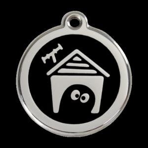 Black Dog House Pet Tag