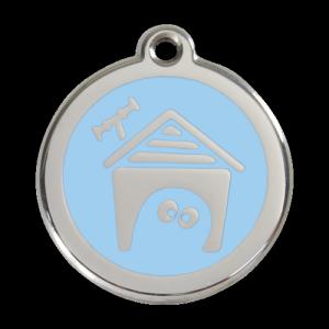 Light Blue Dog House Pet Tag