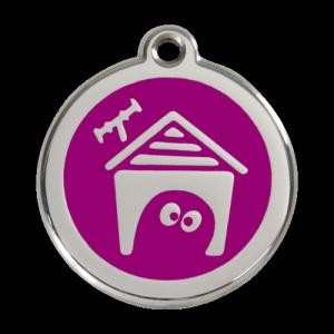 Purple Dog House Pet Tag