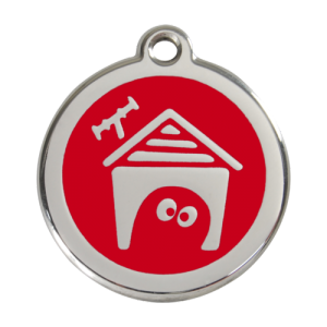 Red Dog House Pet Tag