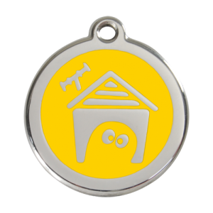 Yellow Dog House Pet Tag