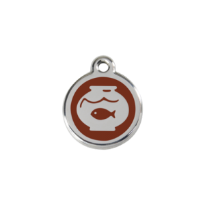Brown Fish Bowl Pet Tag