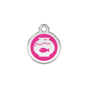 Hot Pink Fish Bowl Pet Tag