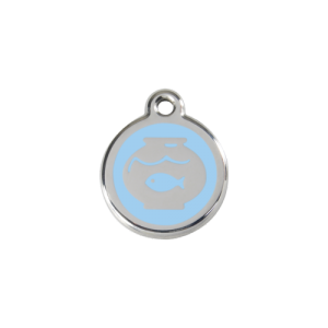 Light Blue Fish Bowl Pet Tag