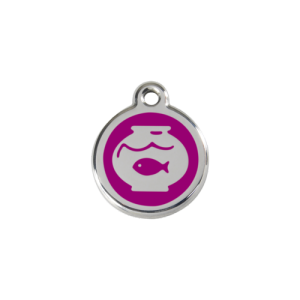 Purple Fish Bowl Pet Tag