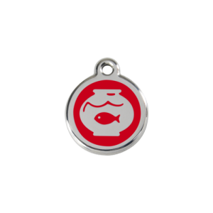 Red Fish Bowl Pet Tag