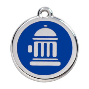 Dark Blue Fire Hydrant Pet Tag
