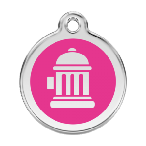 Hot Pink Fire Hydrant Pet Tag
