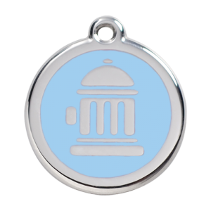 Light Blue Fire Hydrant Pet Tag