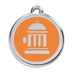 Orange Fire Hydrant Pet Tag