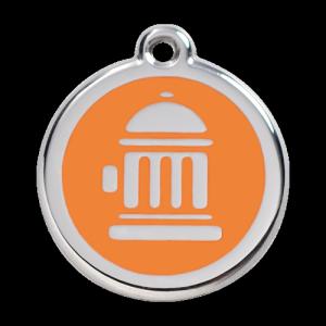 Orange Fire Hydrant Pet Tag