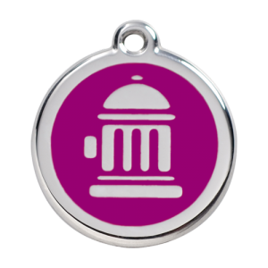 Purple Fire Hydrant Pet Tag