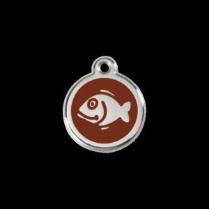 Brown Fish Pet Tag