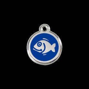 Dark Blue Fish Pet Tag