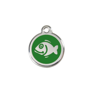 Green Fish Pet Tag