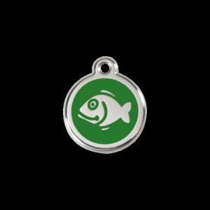 Green Fish Pet Tag