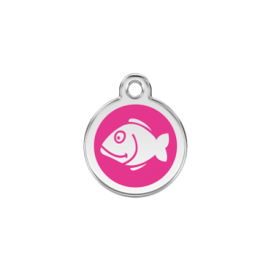 Hot Pink Fish Pet Tag
