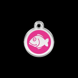 Hot Pink Fish Pet Tag