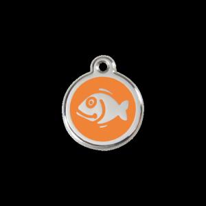 Orange Fish Pet Tag