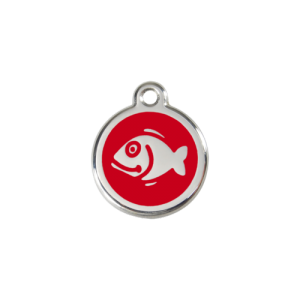 Red Fish Pet Tag