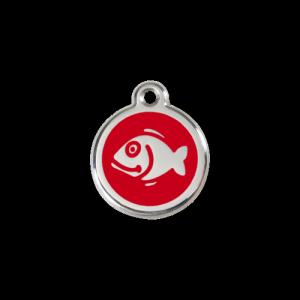 Red Fish Pet Tag