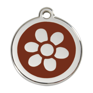 Brown Flower Pet Tag