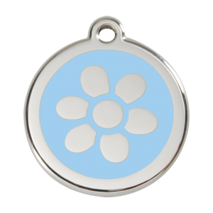 Light Blue Flower Pet Tag