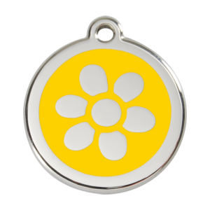 Yellow Flower Pet Tag