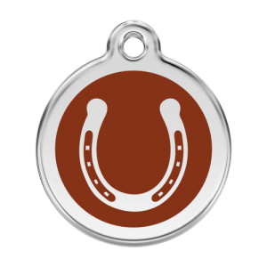 Brown Horseshoe Pet Tag