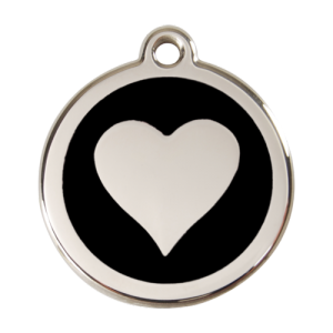 Black Heart Pet Tag