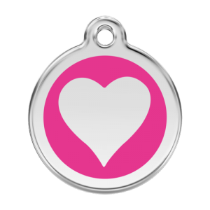 Hot Pink Heart Pet Tag
