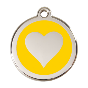 Yellow Heart Pet Tag