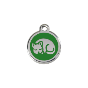 Green Kitten Pet Tag