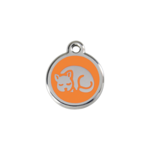 Orange Kitten Pet Tag