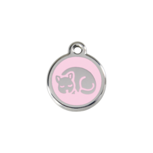 Pink Kitten Pet Tag