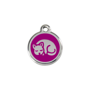 Purple Kitten Pet Tag