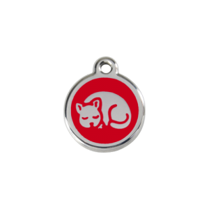 Red Kitten Pet Tag