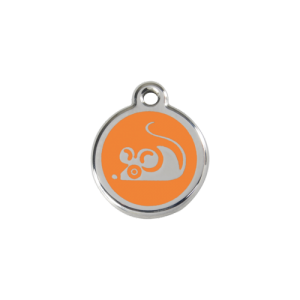 Orange Mouse Pet Tag