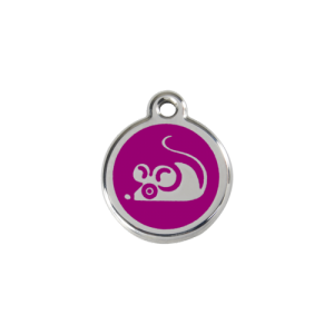 Purple Mouse Pet Tag
