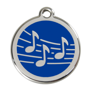 Dark Blue Music Pet Tag